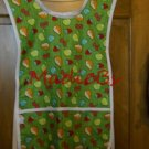 MadieBs Mixed Fruit on Green Pears Cherries Custom Smock Apron