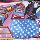 MadieBs American Raceway Cars Cotton  Fitted  Crib Sheet Custom New