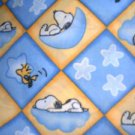 MadieBs Snoopy and Woodstock Blue & Yellow  Cotton Fitted  Crib Sheet Custom New