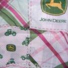 MadieBs John Deere Madri Pink Plaid  Cotton Fitted  Crib Sheet Custom New