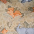 MadieBs Jungle Animals on Tan Cotton Fitted  Crib Sheet Custom New