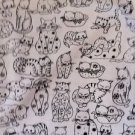 MadieBs Black and White Kitty Feline Cat Kittens Fitted  Crib Sheet Custom New
