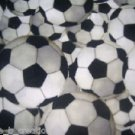 MadieBs Black and White Soccer Balls  Fitted  Crib Sheet Custom New