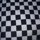 MadieBs Black and White Racing Checks  Cotton Fitted  Crib Sheet Custom New