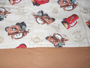 MadieBs Mater McQueen Tan  Cotton Personalized Custom  Pillowcase  w/Name