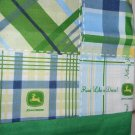 MadieBs John Deere Plaid  Cotton Personalized Custom  Pillowcase  w/Name