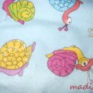 MadieBs Colorful Snails  Flannel Cotton Personalized Custom  Pillowcase  w/Name