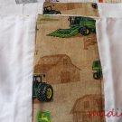 MadieBs Burp Pads Set of 2 Cotton Tan John Deere Custom New