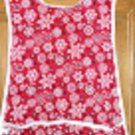 MadieBs Bandana Snowflakes on Red  New Custom Smock Cobbler Apron