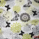 MadieBs Black and Green Butterflies Kinder Nap Mat Pad Cover w/Name