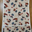 MadieBs Sunrise Rooster Hear Him Crow Cotton New Custom Smock Cobbler Apron