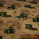 MadieBs John Deere on Brown Cotton Personalized Custom  Pillowcase  w/Name