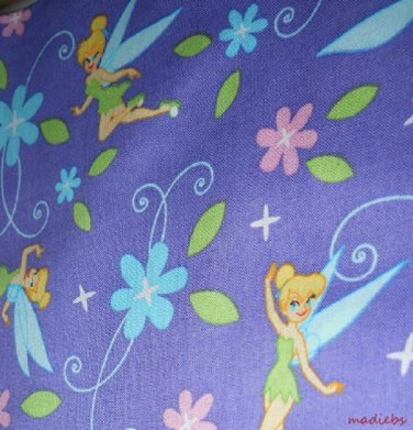 MadieBs Tinkerbelle Purple  Cotton Personalized Custom  Pillowcase  w/Name