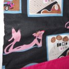 MadieBs Pink Panther on Black Cotton Personalized Custom  Pillowcase  w/Name