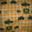 MadieBs Custom  John Deere Yellow Plaid 3 Piece Toddler Sheet Set