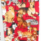 MadieBs Dogs and Cats on Red  Plastic Bag Holder Dispenser