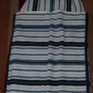 Navy Striped Hooded Towel