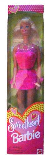 BNIB 1997 Sweetheart Barbie Doll Blond Hair, Blue Eyes, Pink Dress