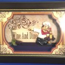 3 Dimensional Whimsical Chef Shadowbox Wine and Dine Wall Hanging
