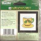 Plaid Bucilla Mary Engelbreit Bucilla Counted Cross Stitch Kit Christmas Tea Cup