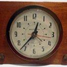 Vintage Westclox Brucewood Solid Mahogany Alarm Clock Model S10-S -1950's