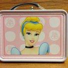 BNIPDisney Princess Cinderella Mini TinLunch Box Handle Working Clasp