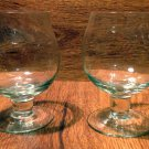 Mismatched Pair of Mini Brandy Snifters Wine Tasting Glasses