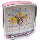 The Wonderful World of Disney Princess Pink Metal Alarm Clock