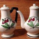 Vintage Ceramic Tall Teapot Salt & Pepper Shakers Made in Japan - 1980's