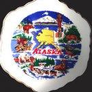 Vintage Alaska Souvenir Scalloped Ceramic Plate Made inChina - 7 1/4 inch
