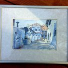 Lucy Willis Blue Mosque, Cochin Watercolur Framed Matted Under Glass  - 1991