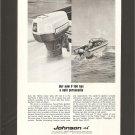 Vintage Johnson V-100 Outboard Motor Magazine Advertisement - 1967