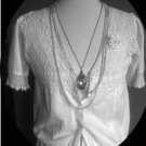 Vintage Hand Crochet and some hand stitching Ivory Undergarment from 1930's