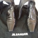 Desiger Jil Sander Leather Boots Size 7 Made in Italy