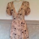 Soft Pink and Black Forever 21 Dress with Flower Print Size Small Medium