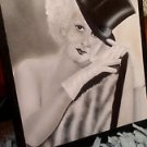 Original Airbrush painting on Canvas of Jean Harlow from 1930'S Wearing a Top Hat