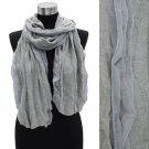 Winter Fashion Duo Tone Chiffon Edge Acrylic Scarf Wrape Shawl Gray