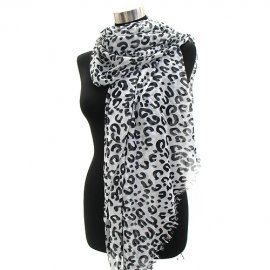 Leopard Print Ombre Pareo Scarf Shawl Wrap Pashmina
