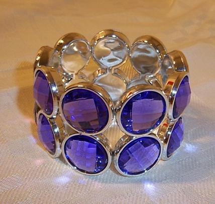 Vintage Look  Stretch Bracelet Purple