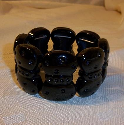 Bow Design Stretch Bracelet Black