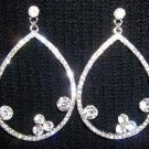 Crystal Pave With Roric Tear Drop Earrings