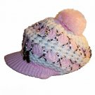 Front Band Button Cabbie Hat Newsboy Cap Beret Beanie pink white
