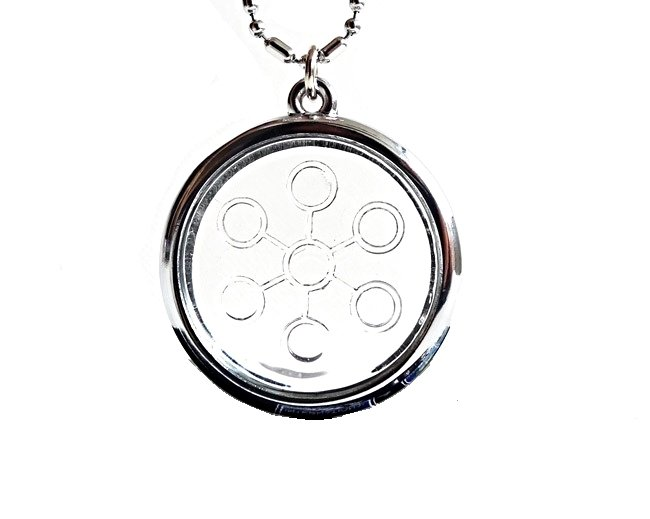 QP15 Dalimara Bio Disc 7-Point Energy Chi Circles Pendant eHarmony