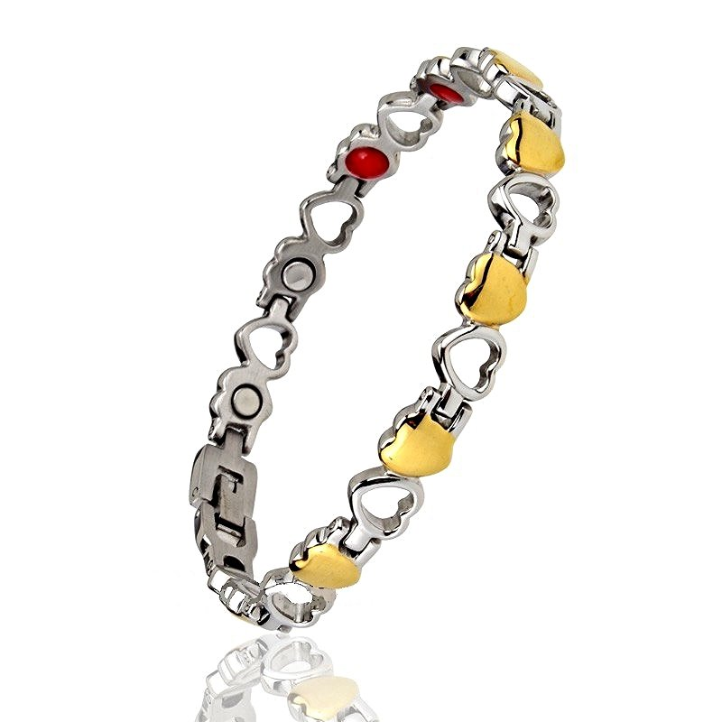 WB12 Hato Quantum Energy Power Heart Bracelet with 4 Energies