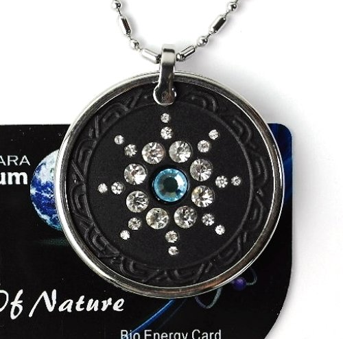 QP7 Quantum Necklace Energy 5K Negative Ion Swarovski Stone Aquamarine March New