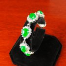 QB59 Water Drop Strength Loyalty Green Jade Quantum Bracelet