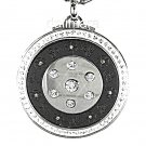 QP12 Dalimara Quantum Pendant Shiny Clear Crystal 316/L Polished Stainless Steel