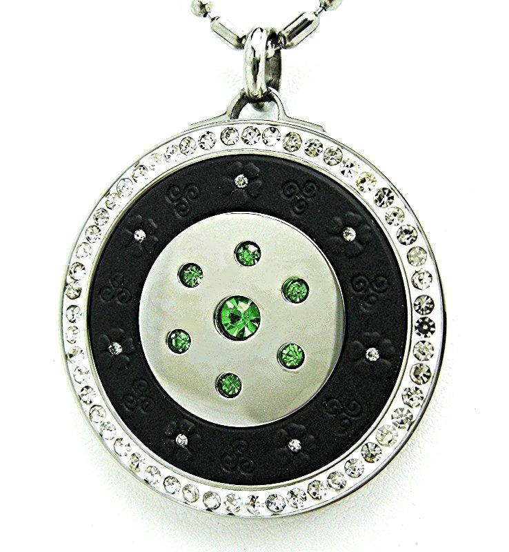 QP12 Dalimara Pendant Green Crystal