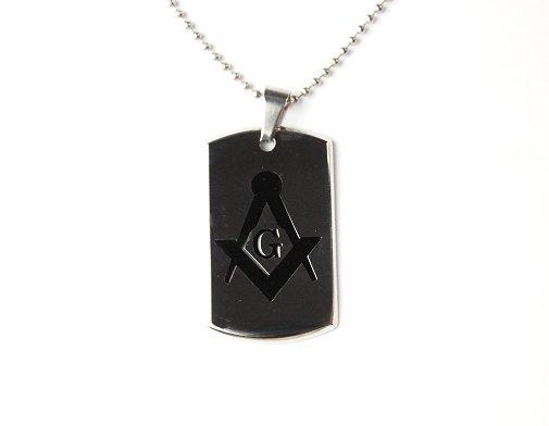 QP56 Freemason Masonic Symbol Stainless Steel Energy Pendant
