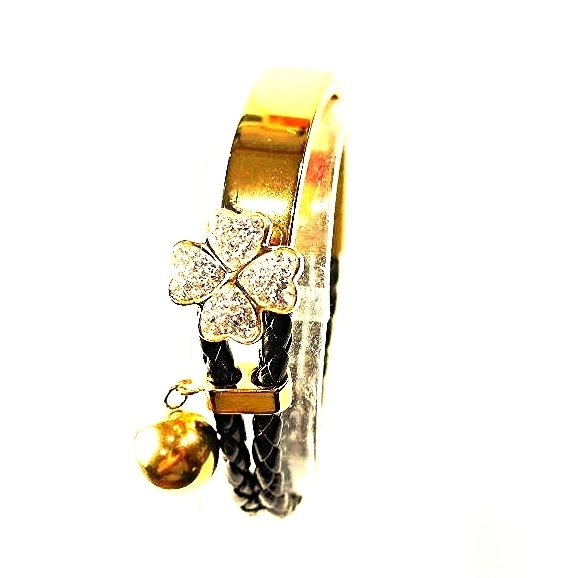 WB14R Hana Crystals Quantum Energy Power Bracelet with 4 Energies